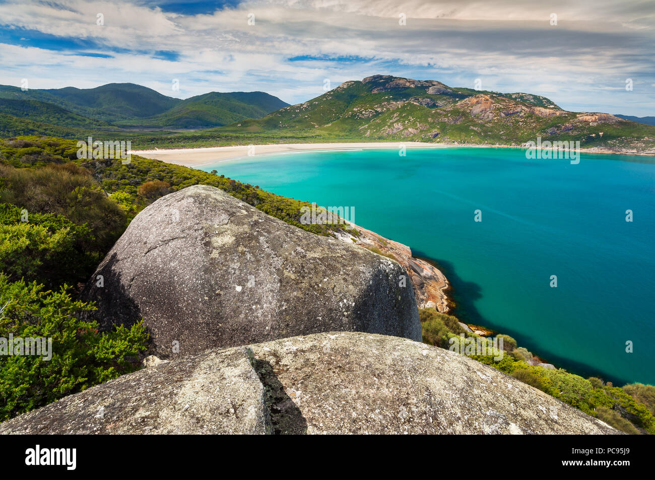 View on Norman Bay in Wilsons Promontory National Park. - Stock Image