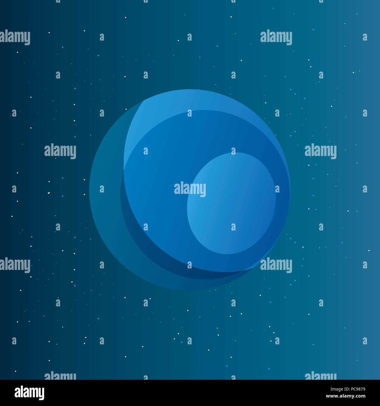 neptune planet over space background, colorful design. vector illustration - Stock Vector