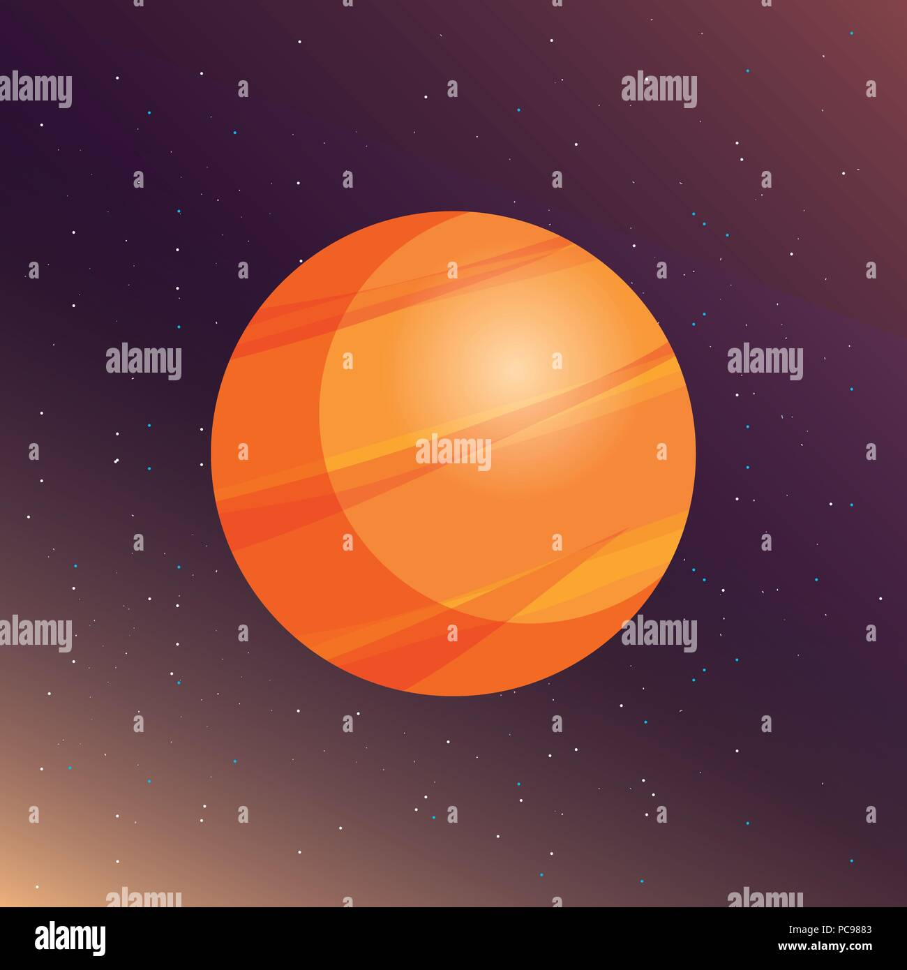 venus planet over space background, colorful design. vector illustration - Stock Vector