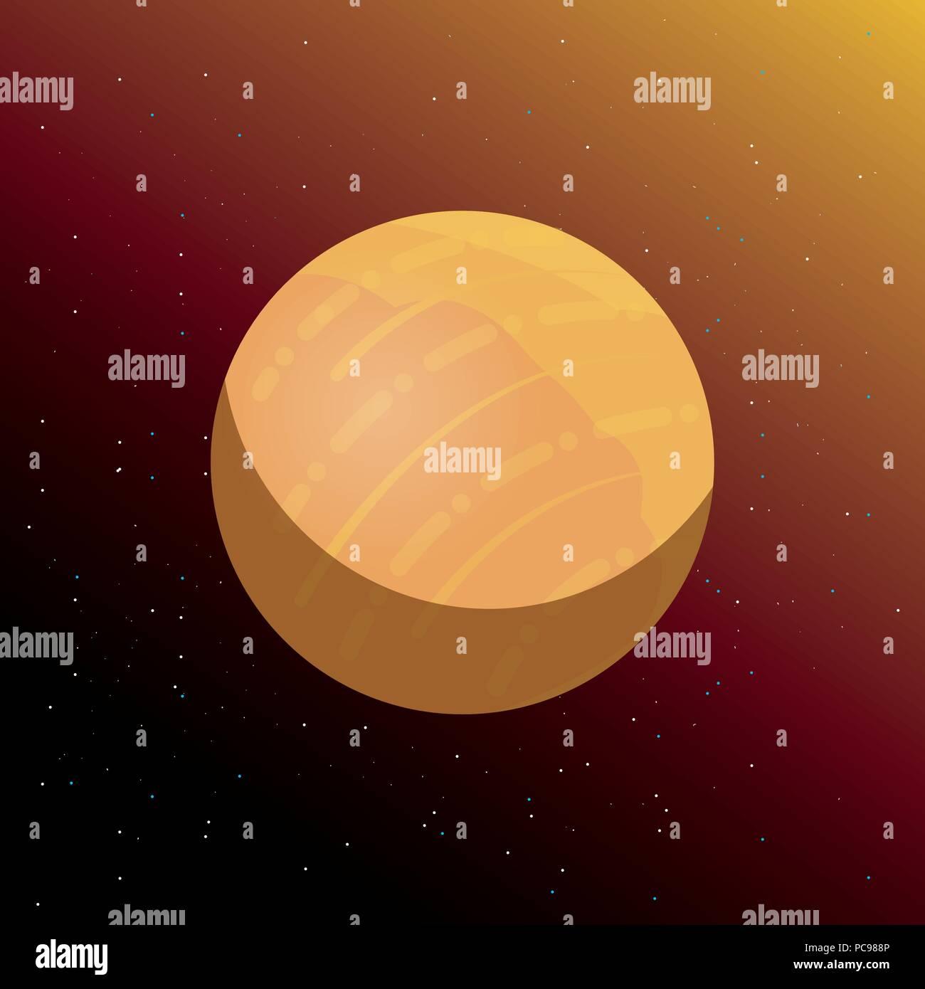 venus planet over space background, colorful design. vector illustration - Stock Image