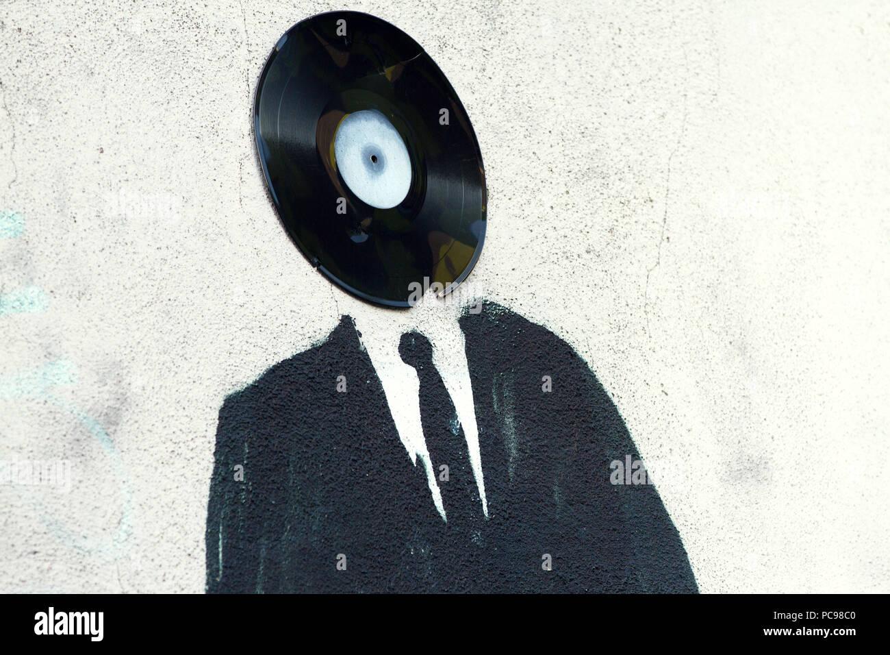 music,vinyl,urban,subculture - Stock Image