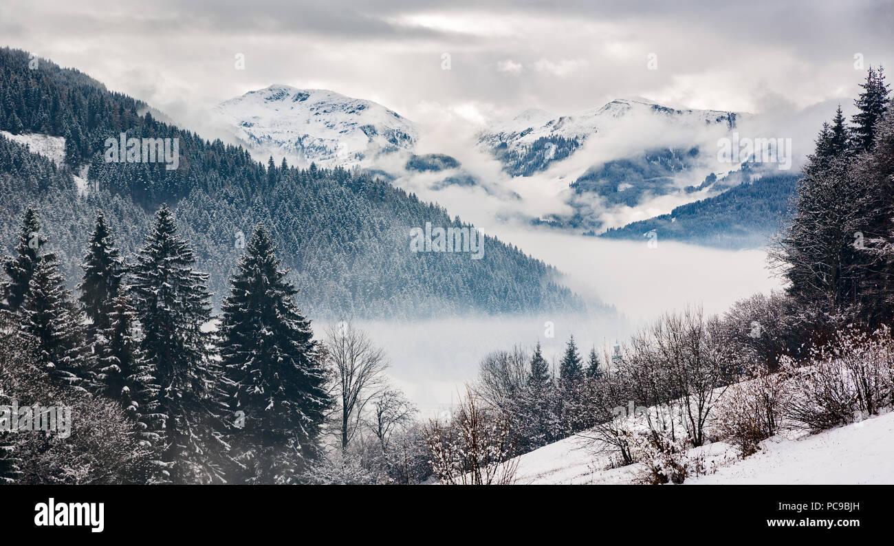 snowscape,zillertal alps,tux alps - Stock Image