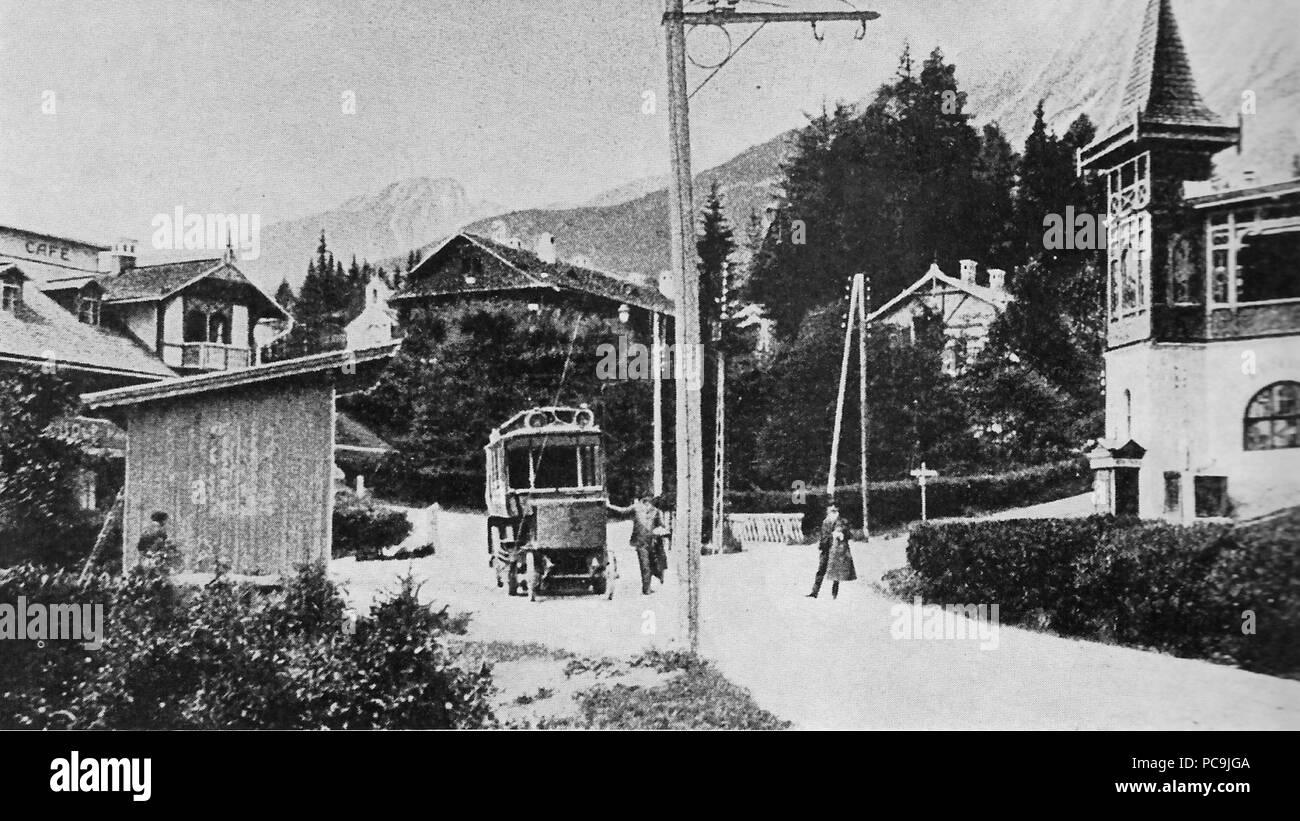 574 Starý Smokovec - cestný elektrobus 1904 Stock Photo