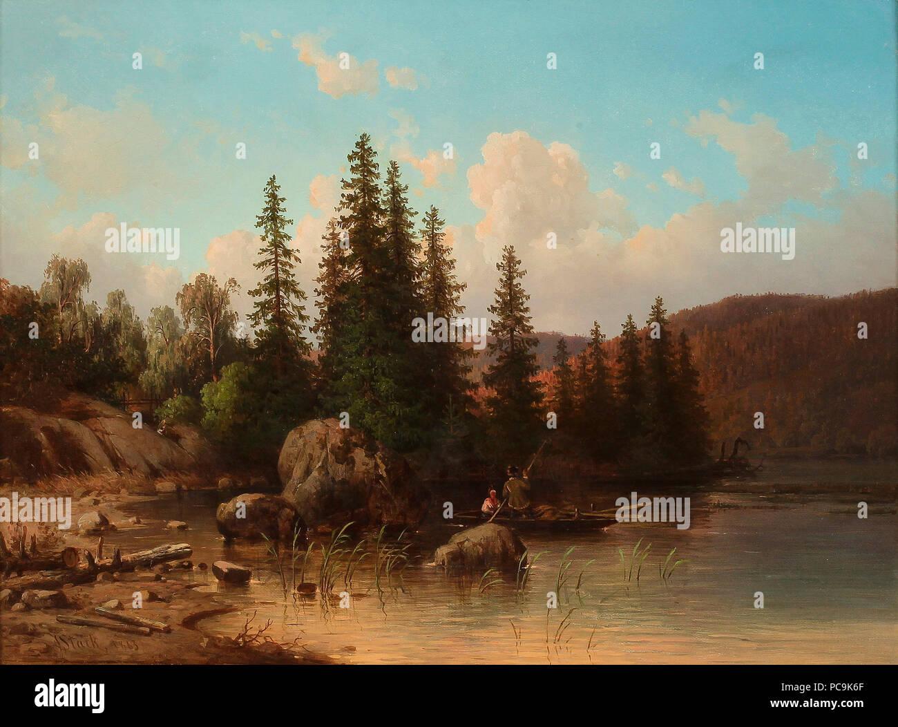 27 Joseph Magnus Stäck - Landskap från Dalarna - Stock Image