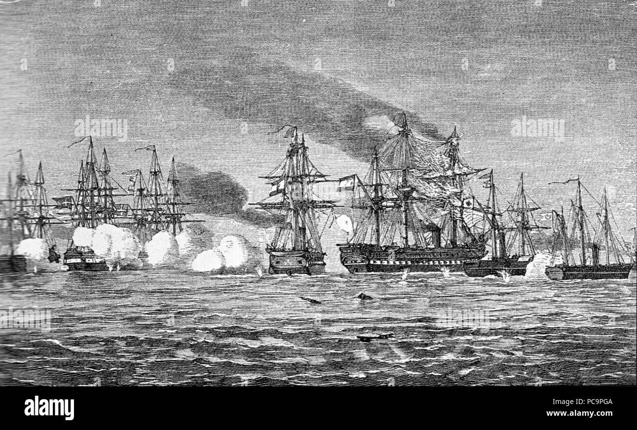 19 9 Mai 1864 Gefecht bei Helgoland - Stock Image