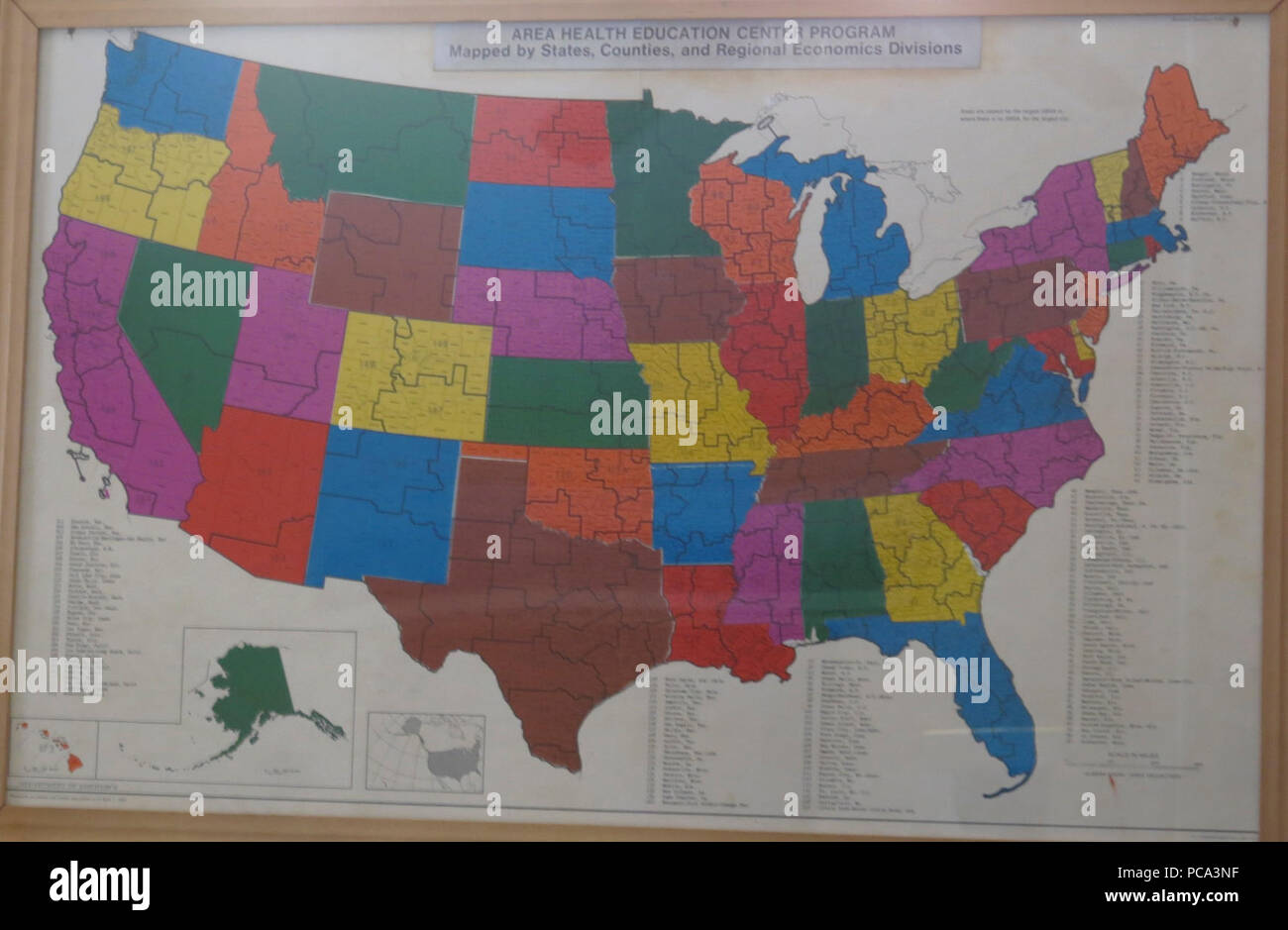 Ahec Program Map 1969 By Us Printing Office Stock Photo 214122763 - Us-map-program