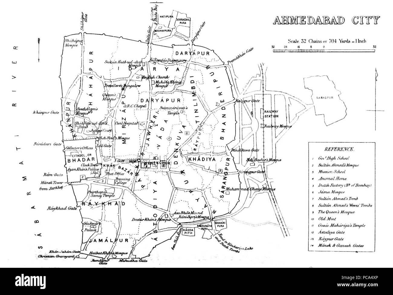 Ahmedabad 1855. - Stock Image