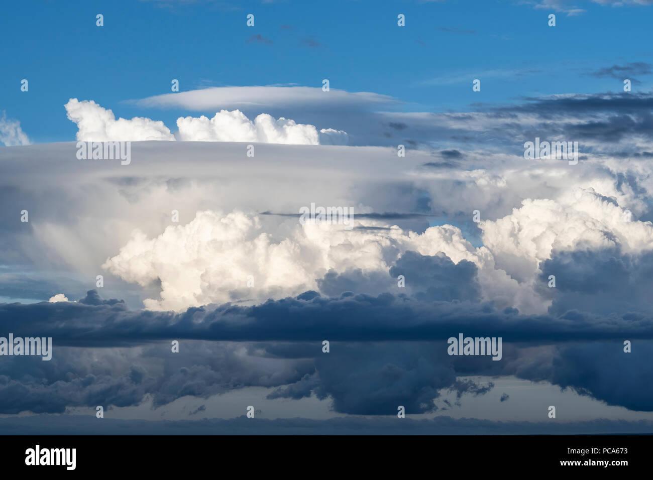 Cumulonimbus clouds. Mora County, NM, USA, by Dominique Braud/Dembinsky Photo Assoc - Stock Image