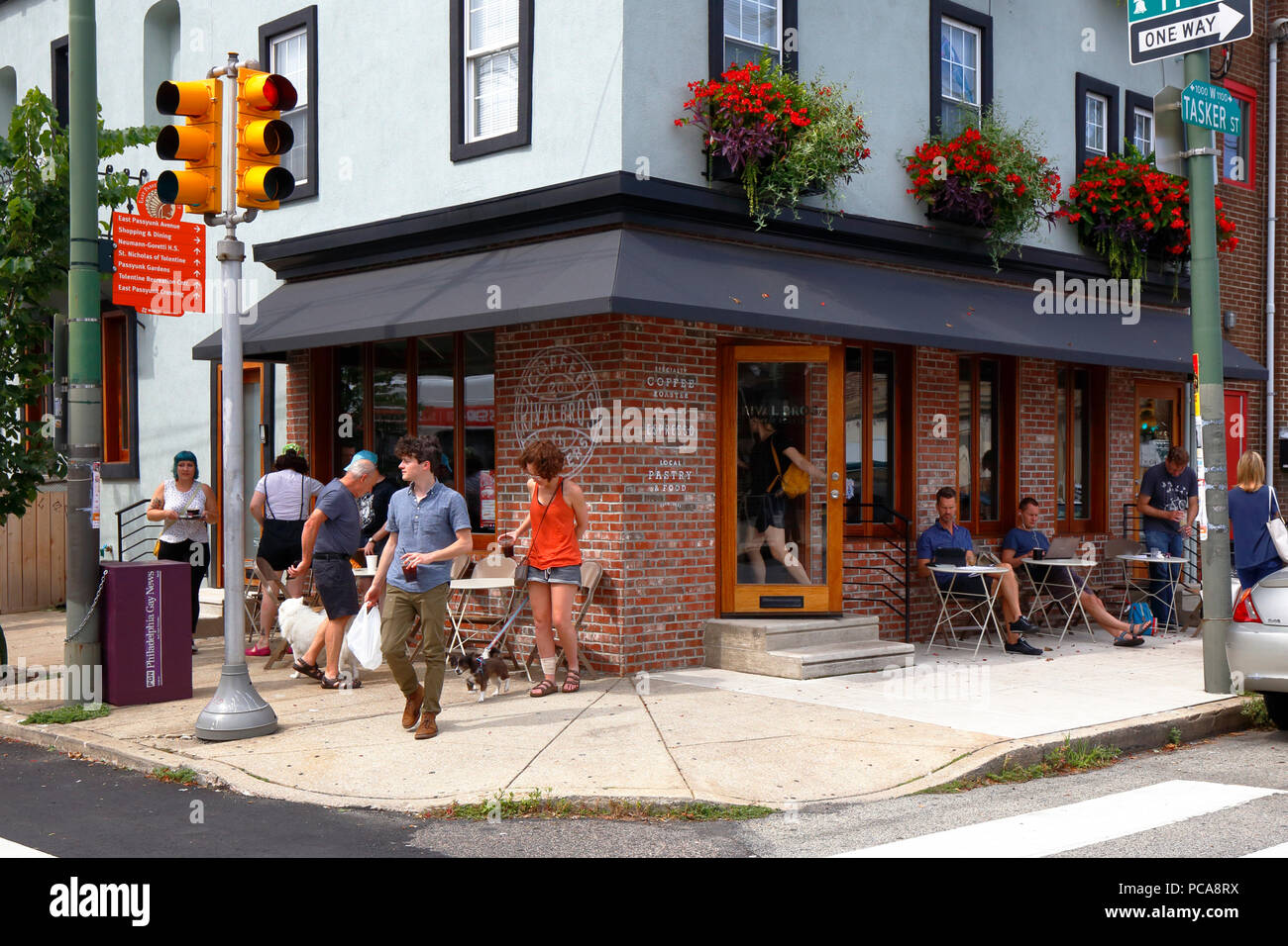 Rival Bros Coffee Bar, 1100 Tasker St, Philadelphia, PA - Stock Image