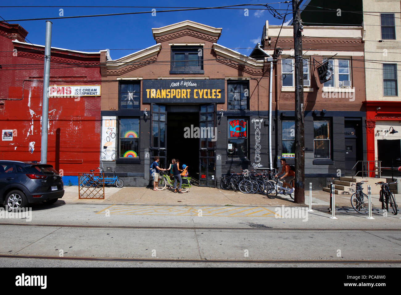 Firth & Wilson Transport Cycles, 1105 Frankford Ave, Philadelphia, PA - Stock Image