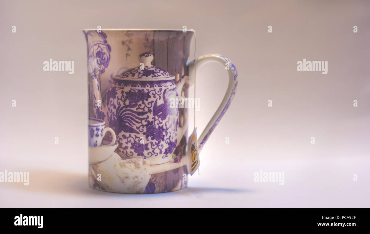 Cup of Tea, Natural Refreshment Photography. Indoor Photography. Stock Photo