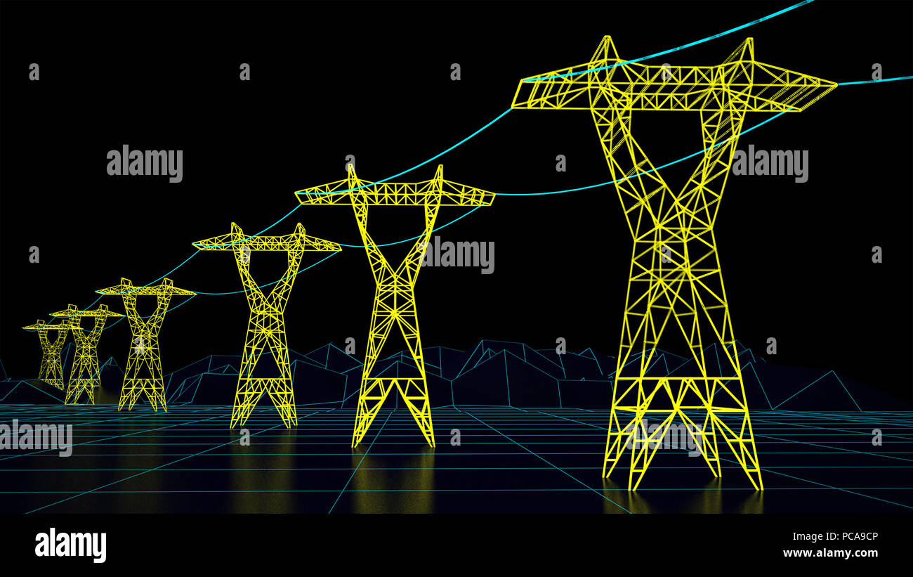 The grid electricity and the future of energy - Stock Image