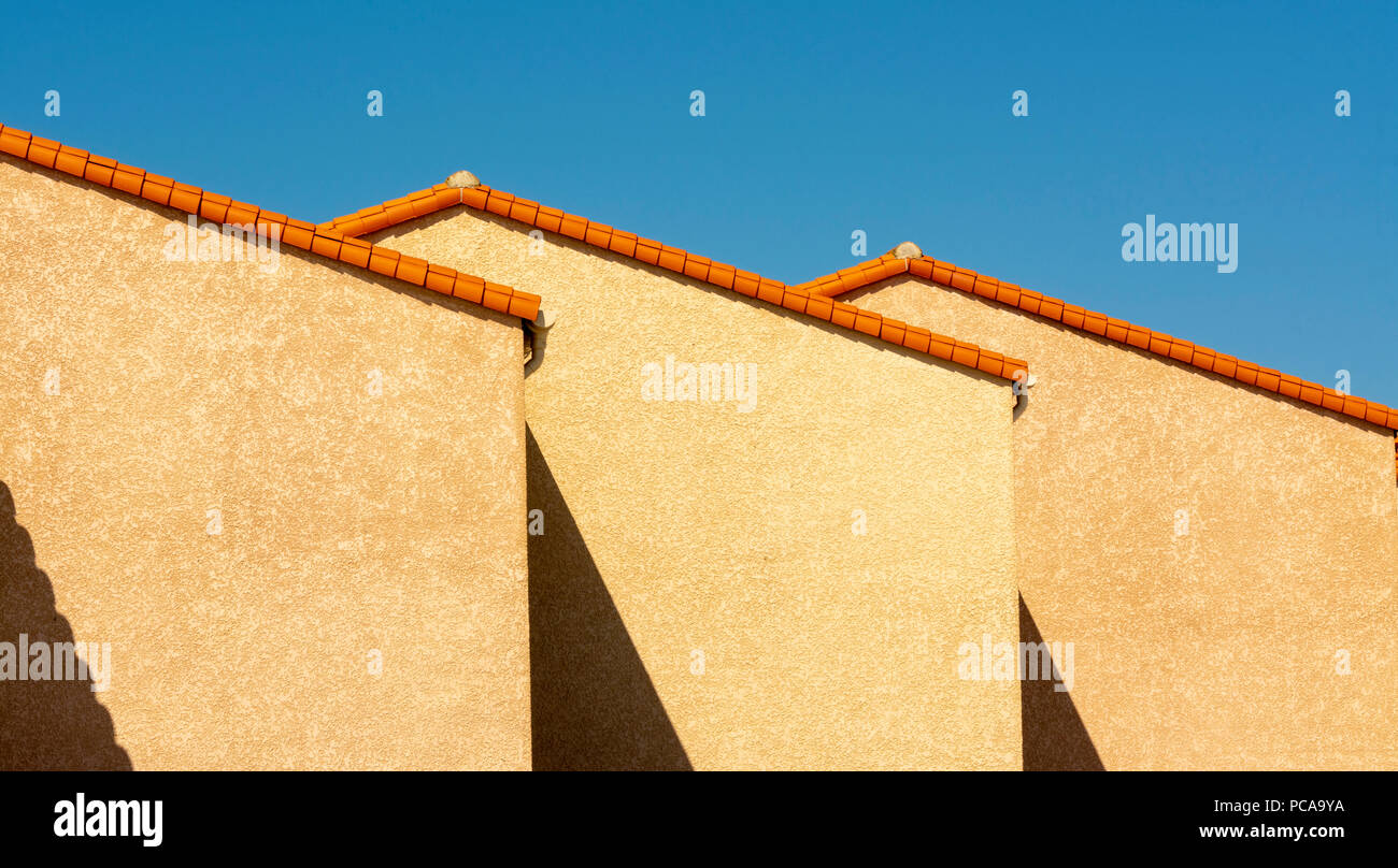 Holiday-house  ,  Le barcares, Pyrenees-Orientales Department, Occitanie, France - Stock Image