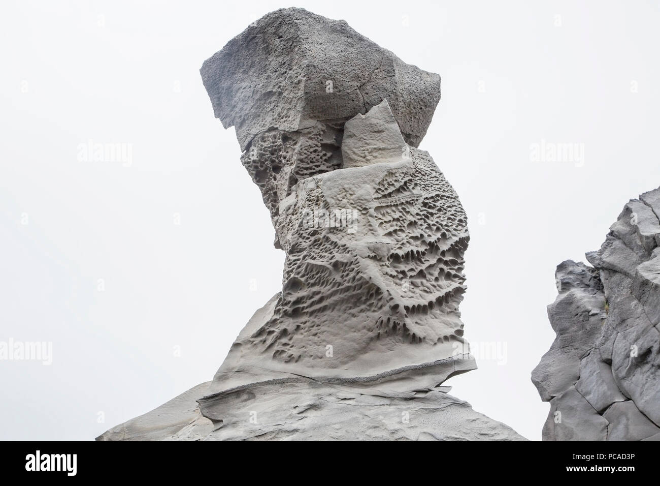 view of volcanic rock formation at bridge between the continents, Iceland - Stock Image