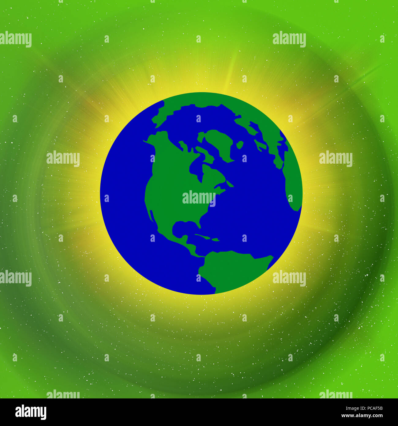 Earths atmosphere Stock Photo