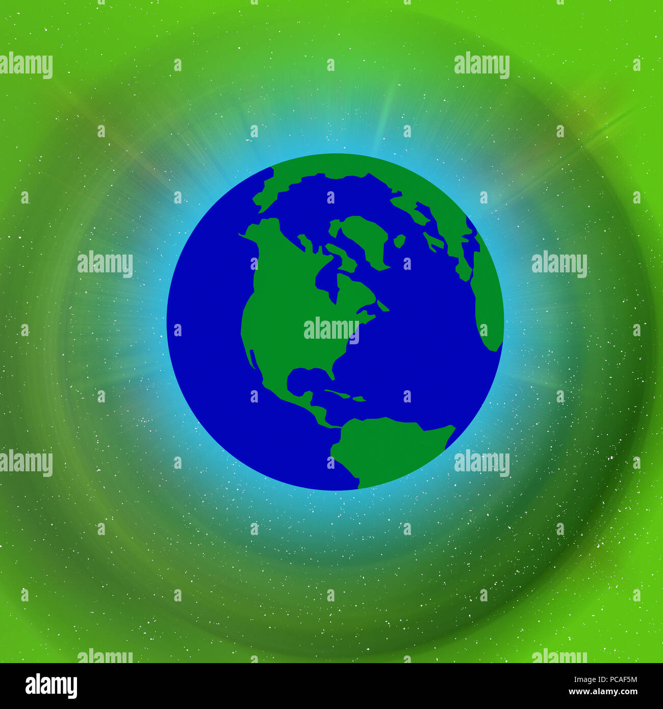 Earths atmosphere - Stock Image