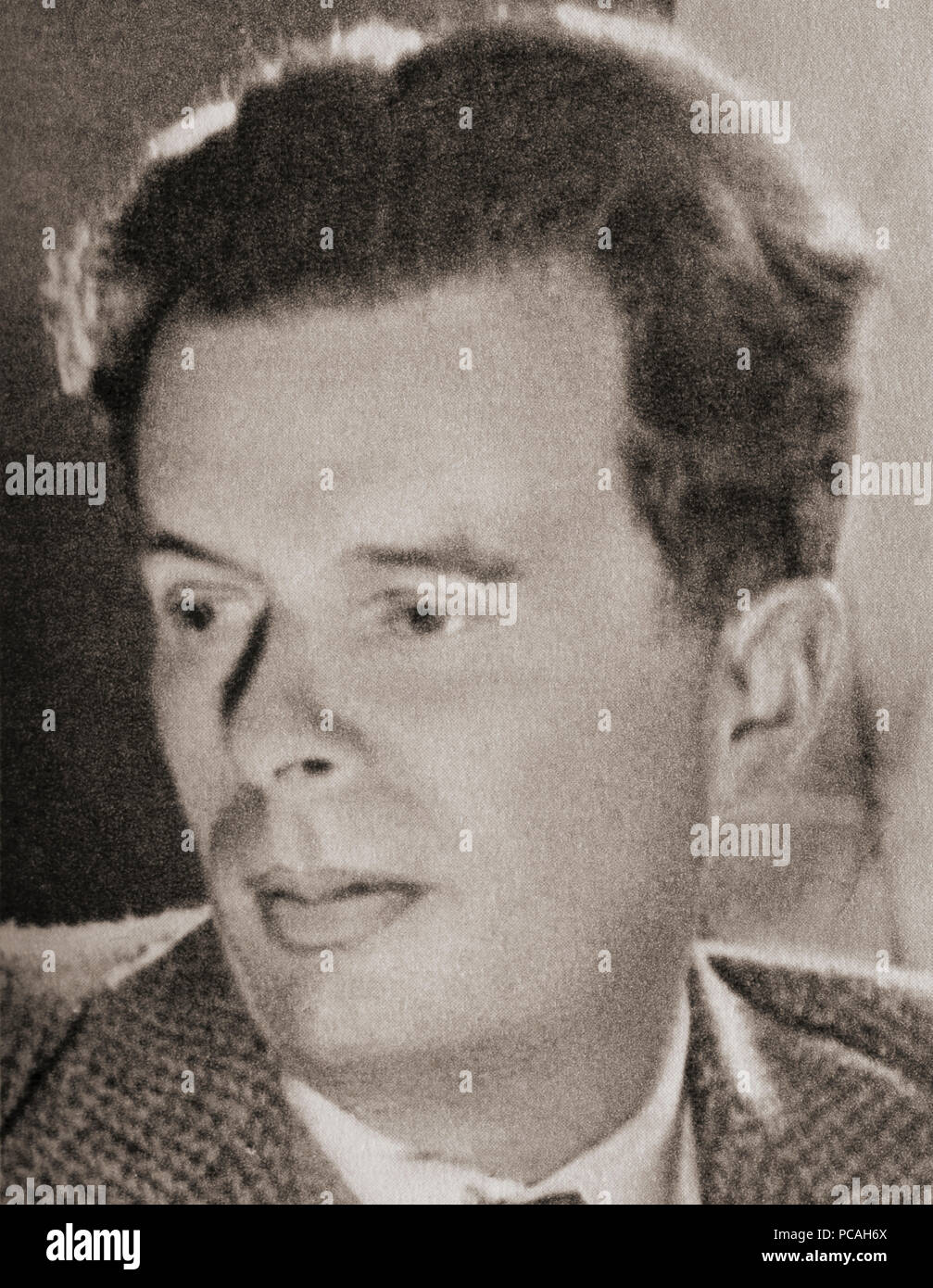 Aldous Leonard Huxley, 1894 – 1963.  English writer, novelist and  philosopher.  After a contemporary print. - Stock Image
