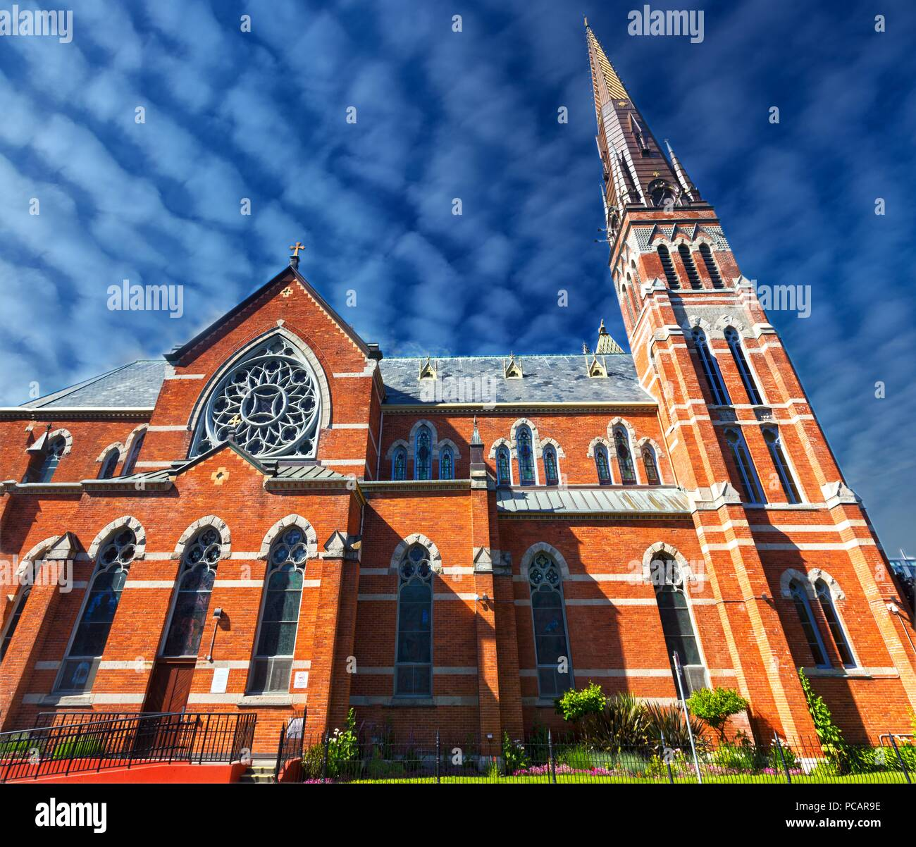 St. Andrews Cathedral, a Roman Catholic Church Building Exterior in Victoria BC City Center on Vancouver Island - Stock Image