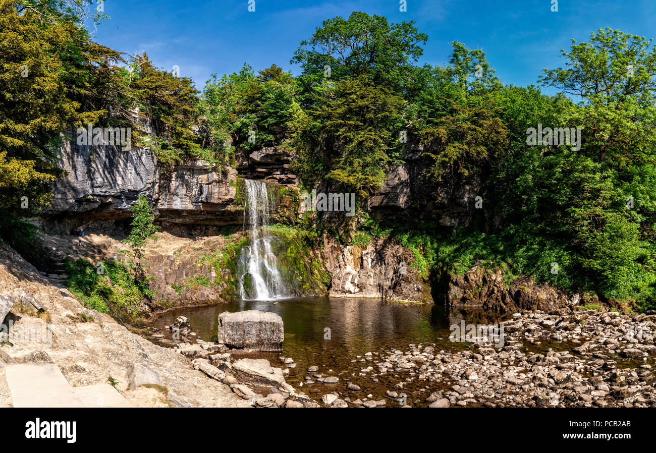 Ingleton waterfall trail, Yorkshire Dales National Park - Stock Image