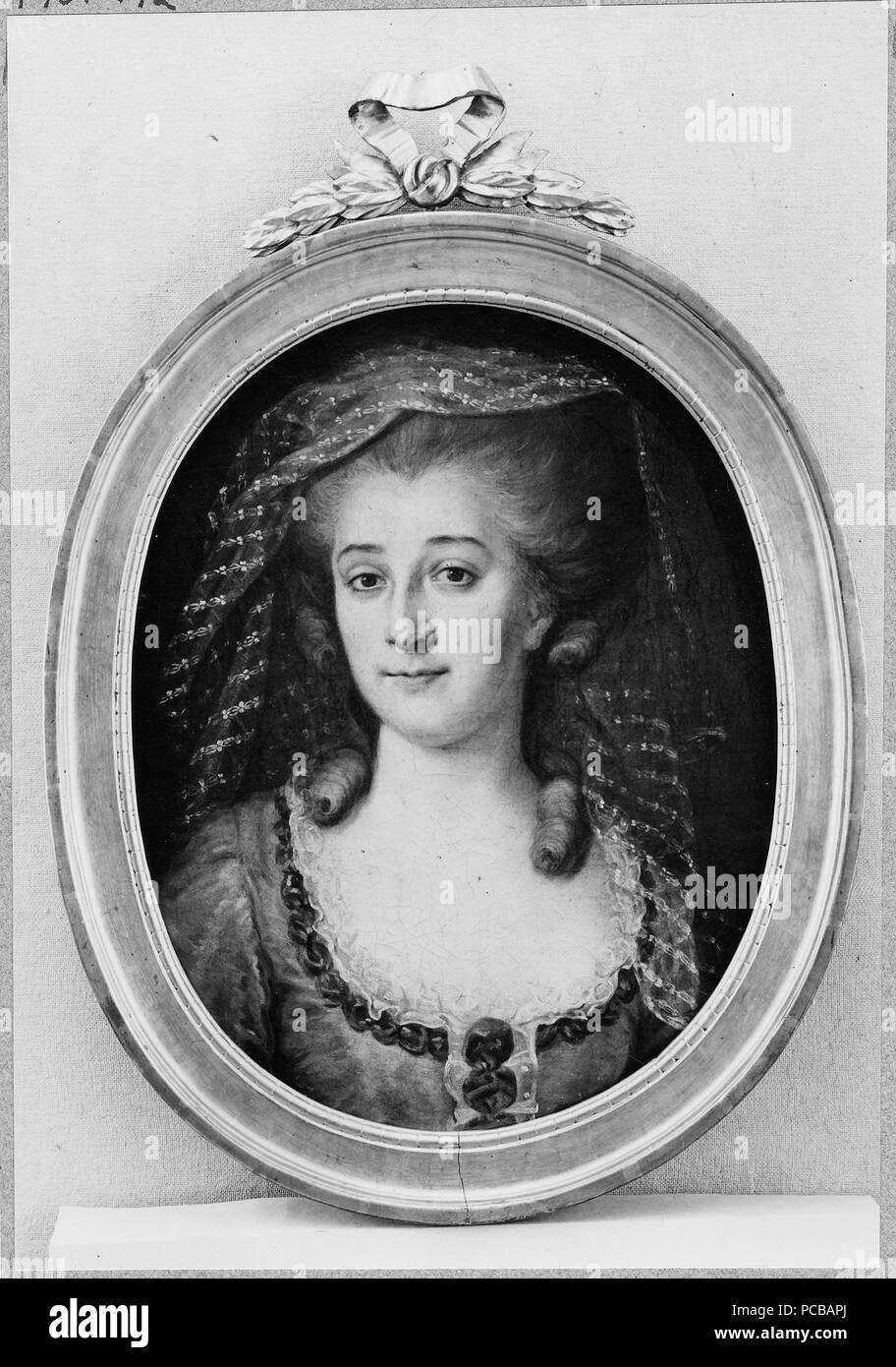 61 Maria Elisabet Alnoor, g.m. Johan Björnström, borgmästare i Strängnäs (Johan Ahlberg) - Nationalmuseum - 39337 Stock Photo