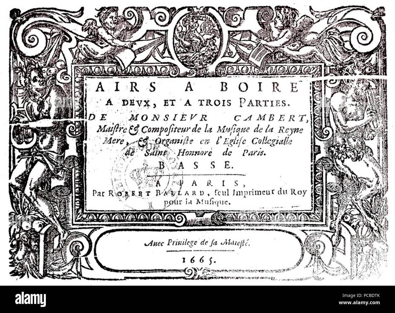 109 Cambert - Airs 1665 - Stock Image