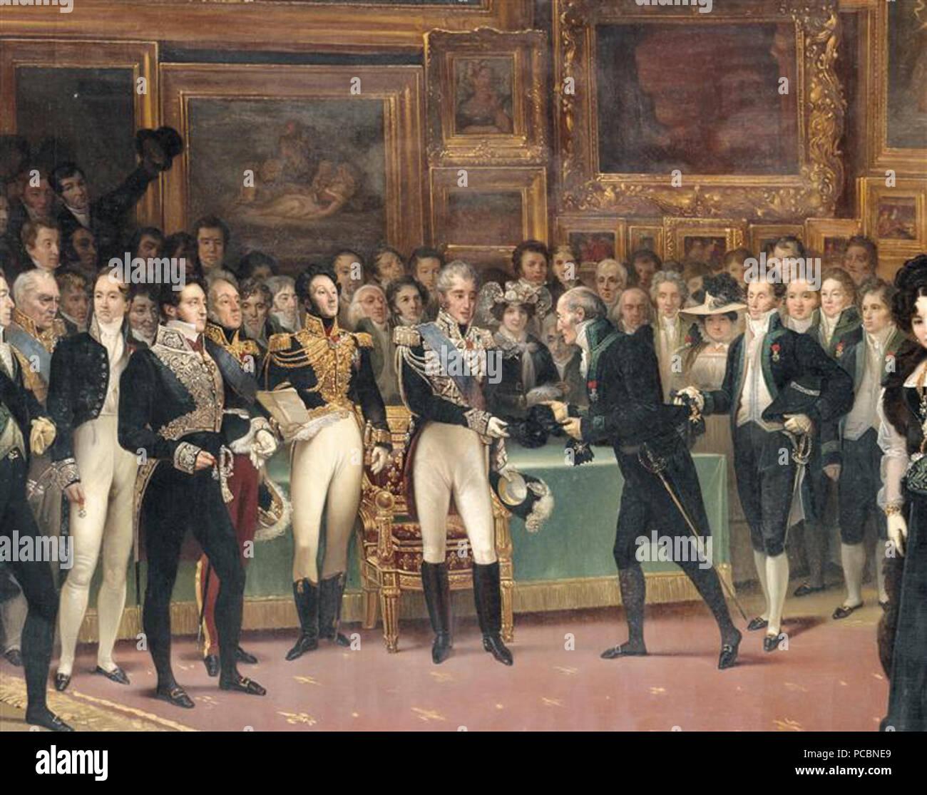 17 Distribution des récompenses aux artistes à la fin du Salon de 1824, le 15 janvier 1825 - Stock Image