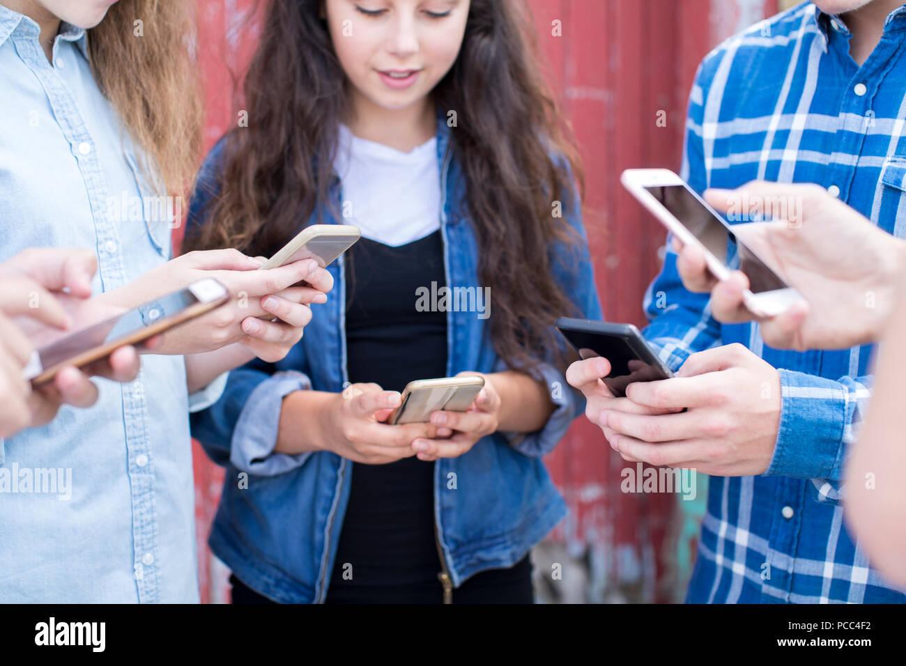 Group Teenage Gang Stock Photos Amp Group Teenage Gang Stock