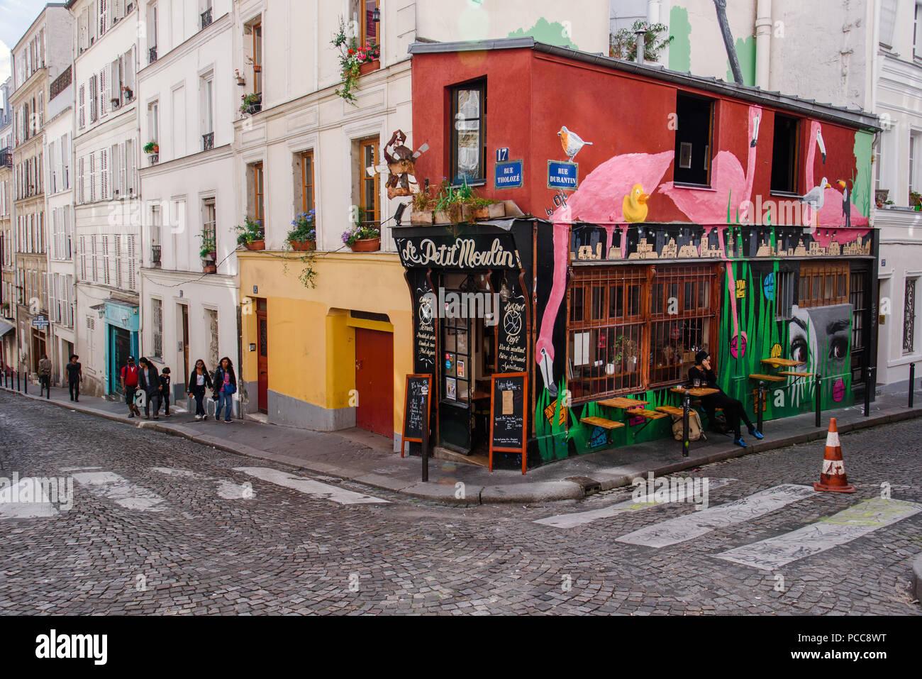 French Restaurant Le Relais Gascon Stock Photo