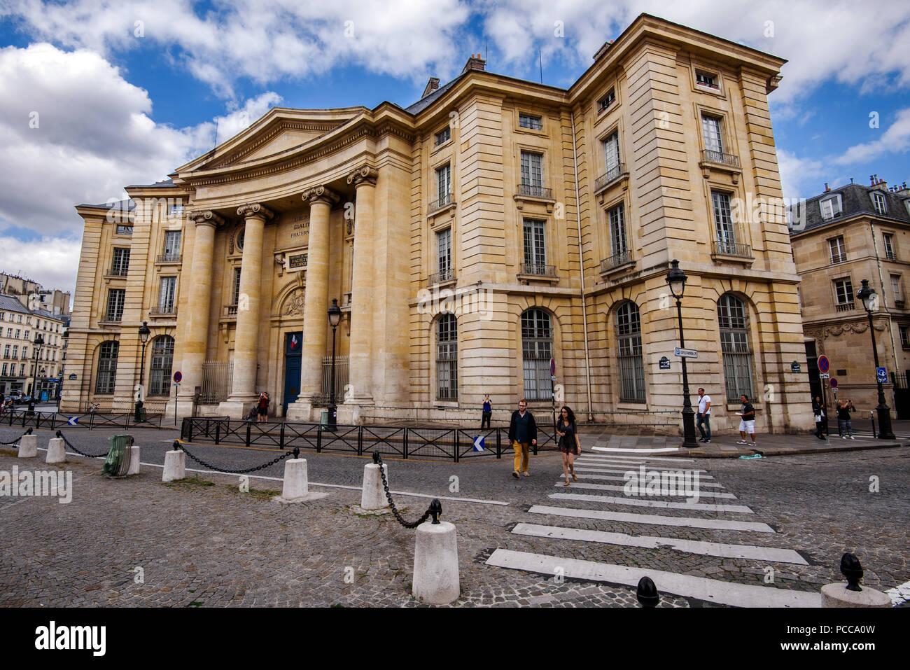 August, 11th, 2017 - Paris, France. Pantheon-Sorbonne University - Stock Image