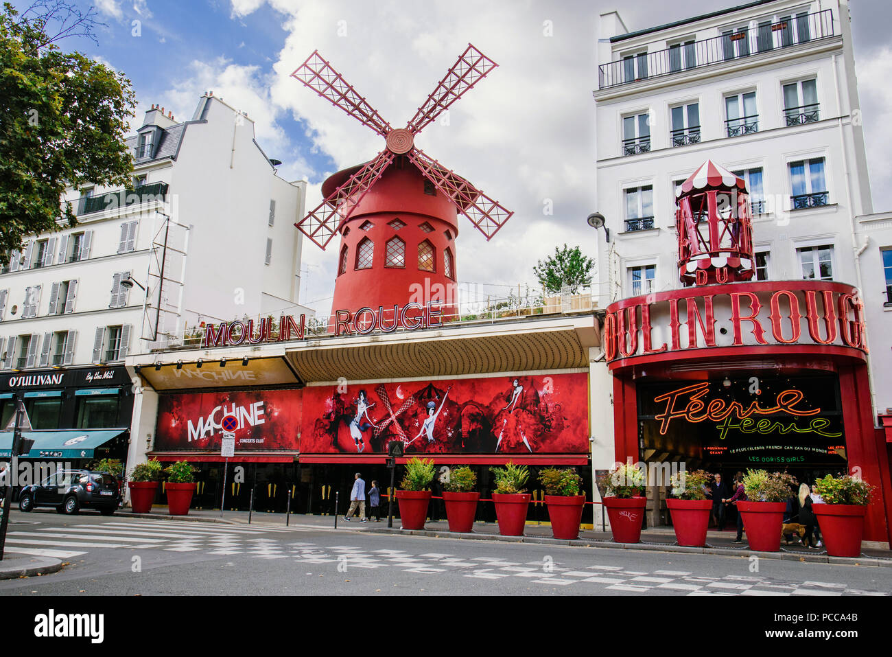 Moulin Rouge Cabaret in Paris - Stock Image