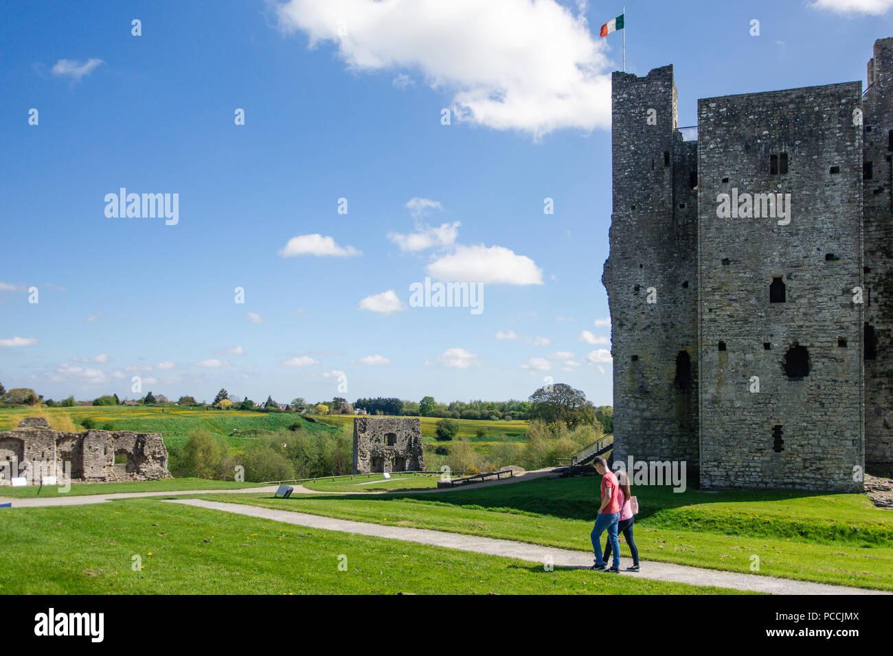 Trim Castle, Trim, County Meath, Leinster, Ireland - Stock Image