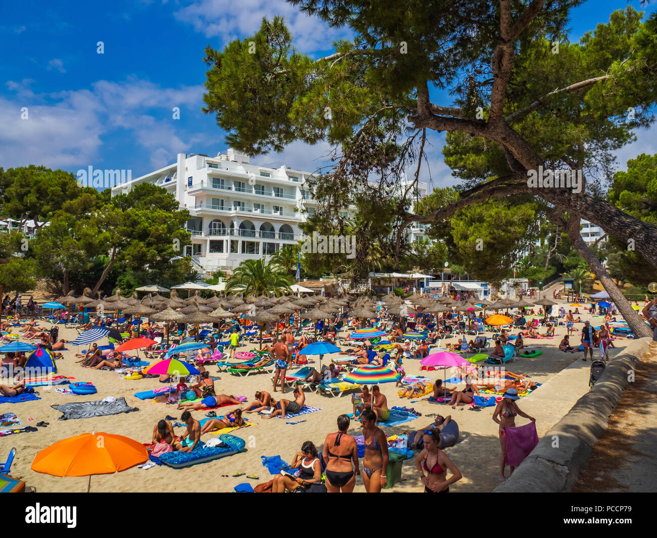 Cala Gran beach, Cala d'Or, Majorca, Spain - Stock Image