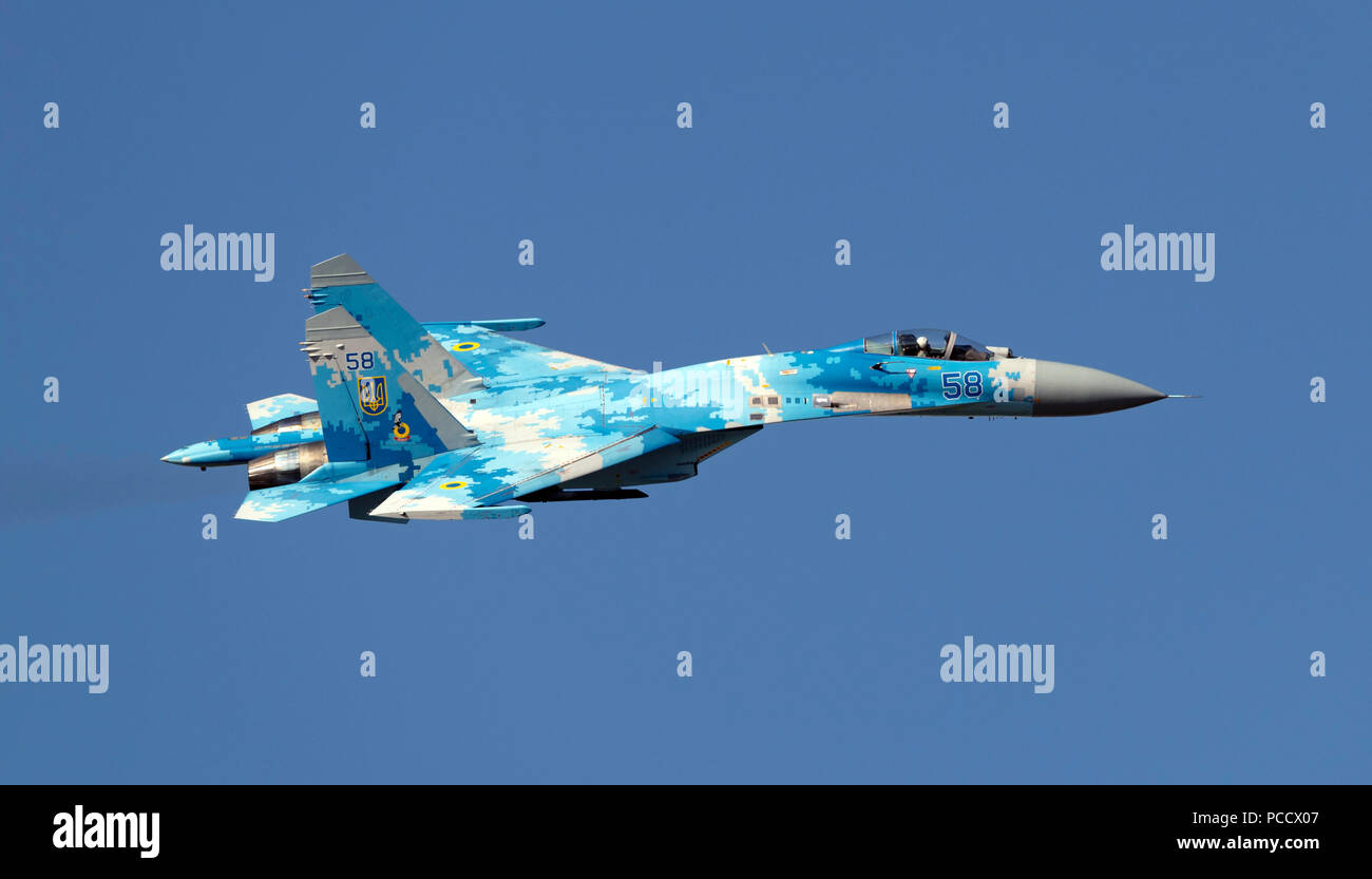 Sukhoi Su27, Ukranian Air Force - Stock Image