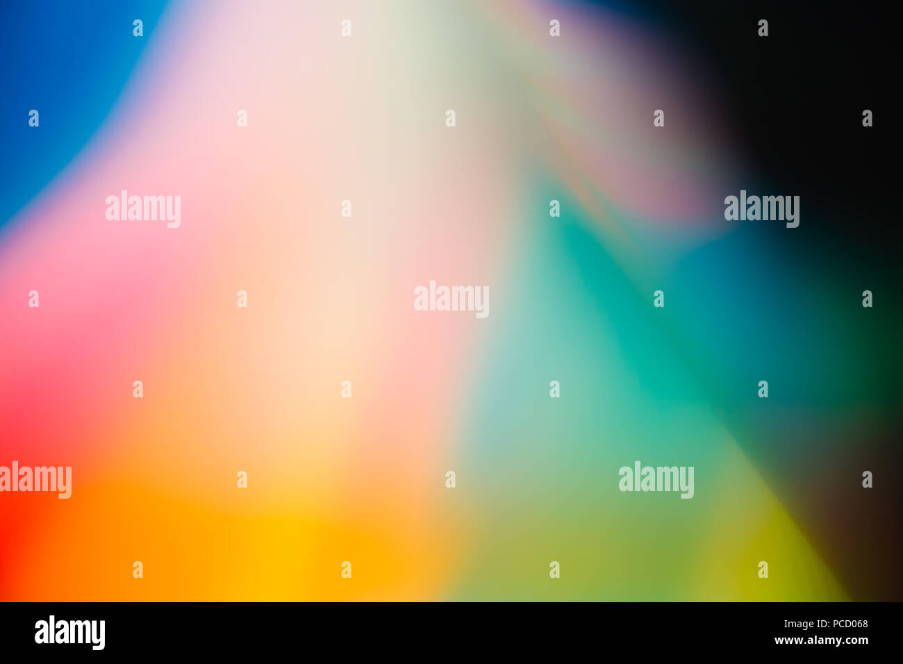 Abstract Photograph Blurred Rainbow Colour - Stock Image