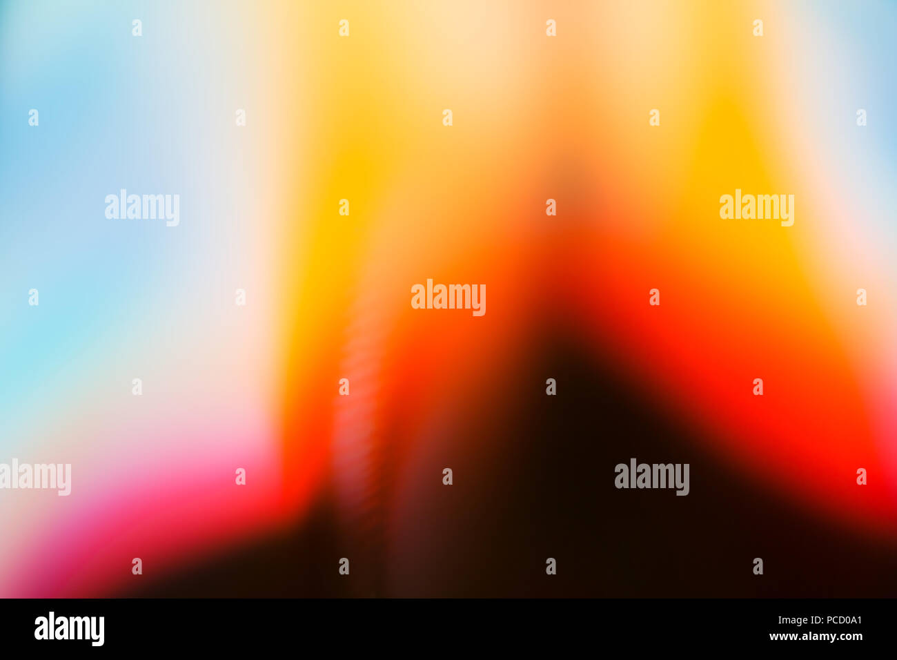 Abstract Photograph Blurred Vibrant Colours - Stock Image
