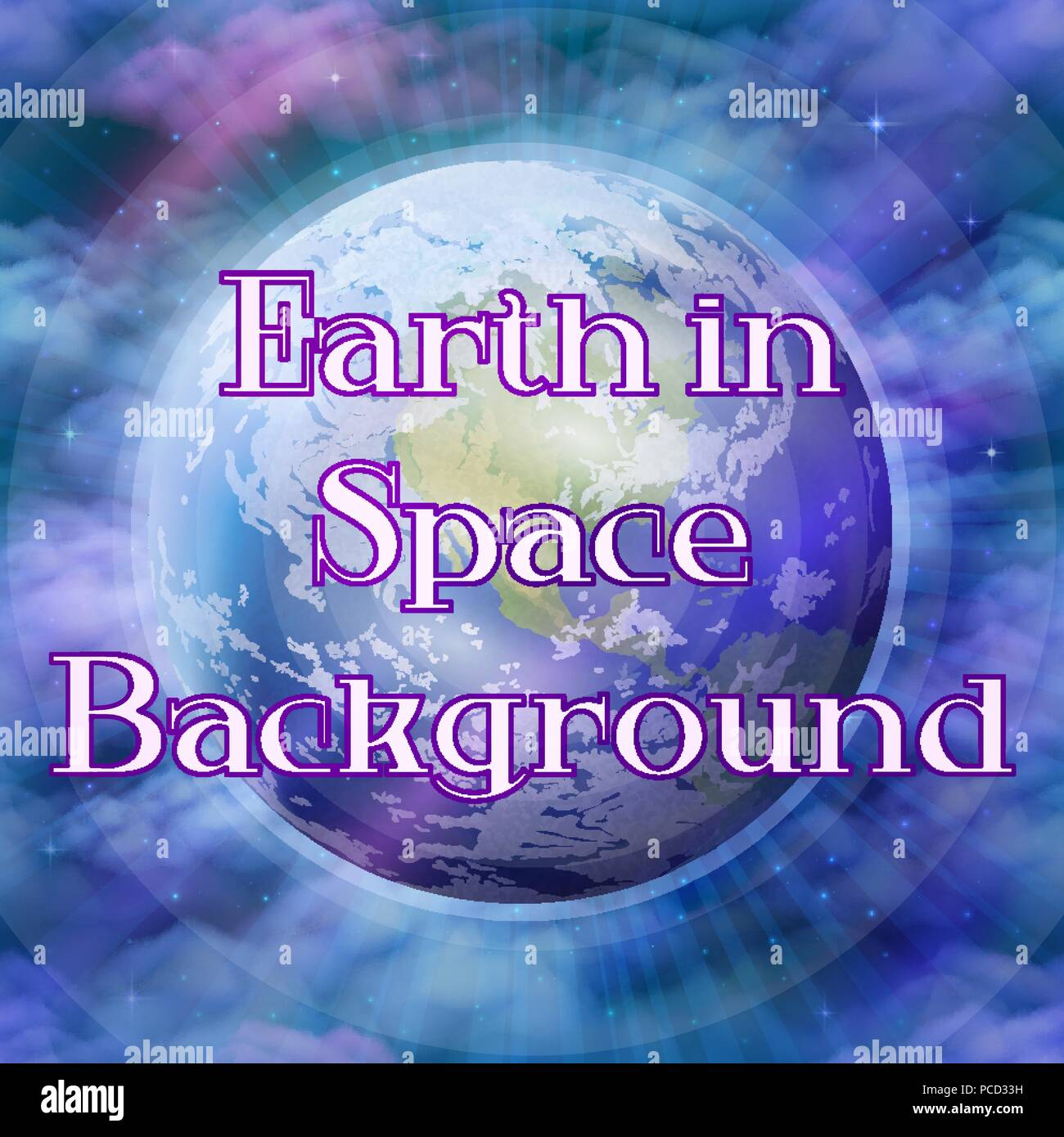 Planet Earth in Space - Stock Image