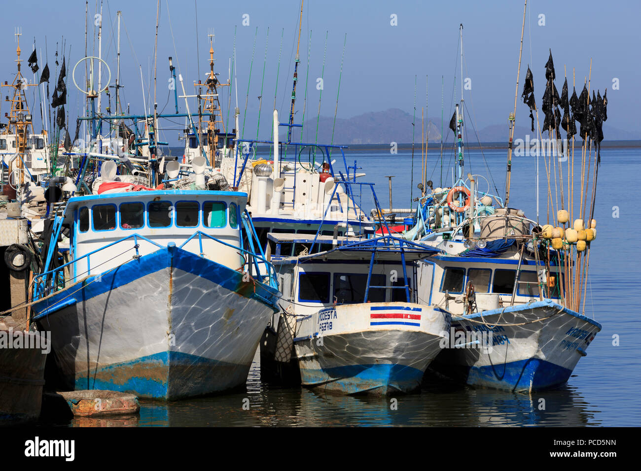 Fishing Boats, Puntarenas City, Costa Rica, Central America - Stock Image