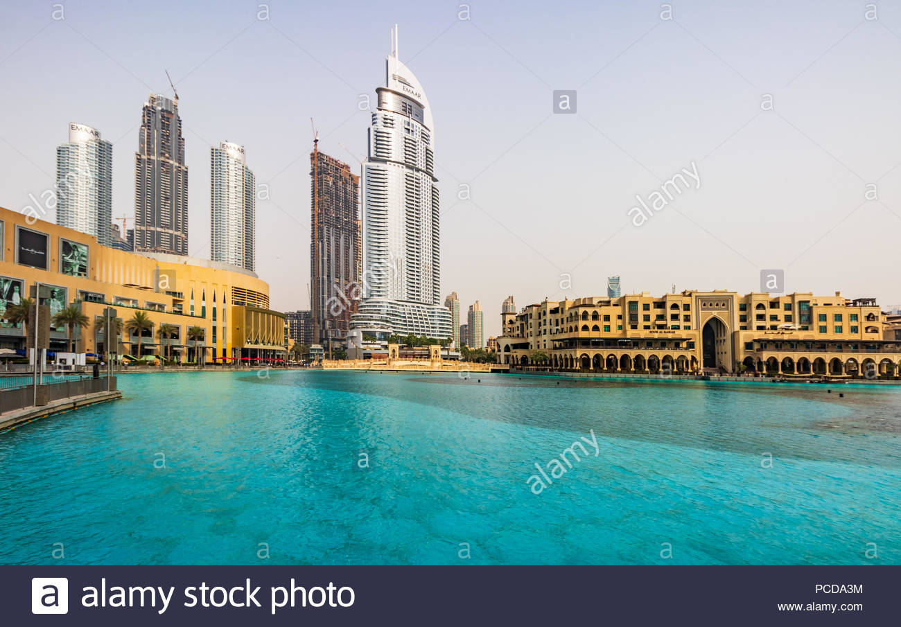 cb34d78de40 View of the Address Hotel Downtown Dubai and Souk Al Bahar next to The Dubai  Mall.