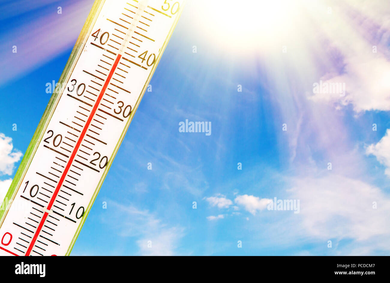 Very hot day - Stock Image
