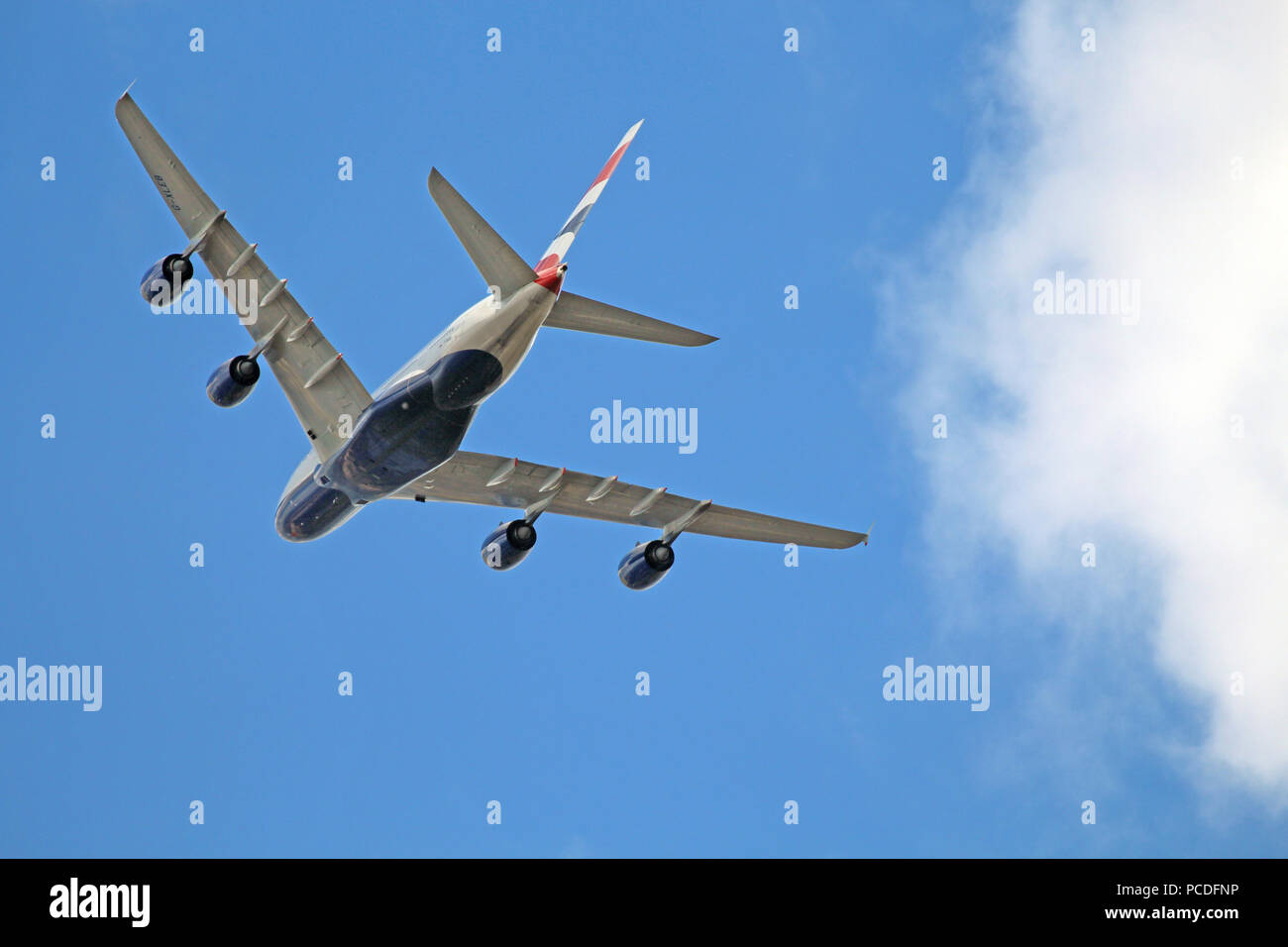 BRITISH AIRWAYS 747. Photo: Tony Gale - Stock Image