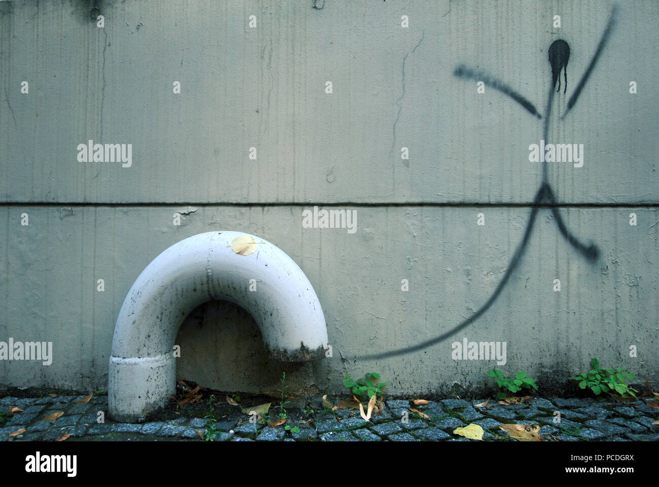 pipe,exhaust,ventilation,ventilation tube,absorb - Stock Image