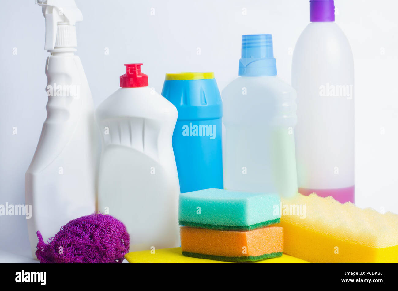 more photos 0ca29 5dea3 Cleaners on an isolated white background, housekeeping , supplies, concept  of cleanliness