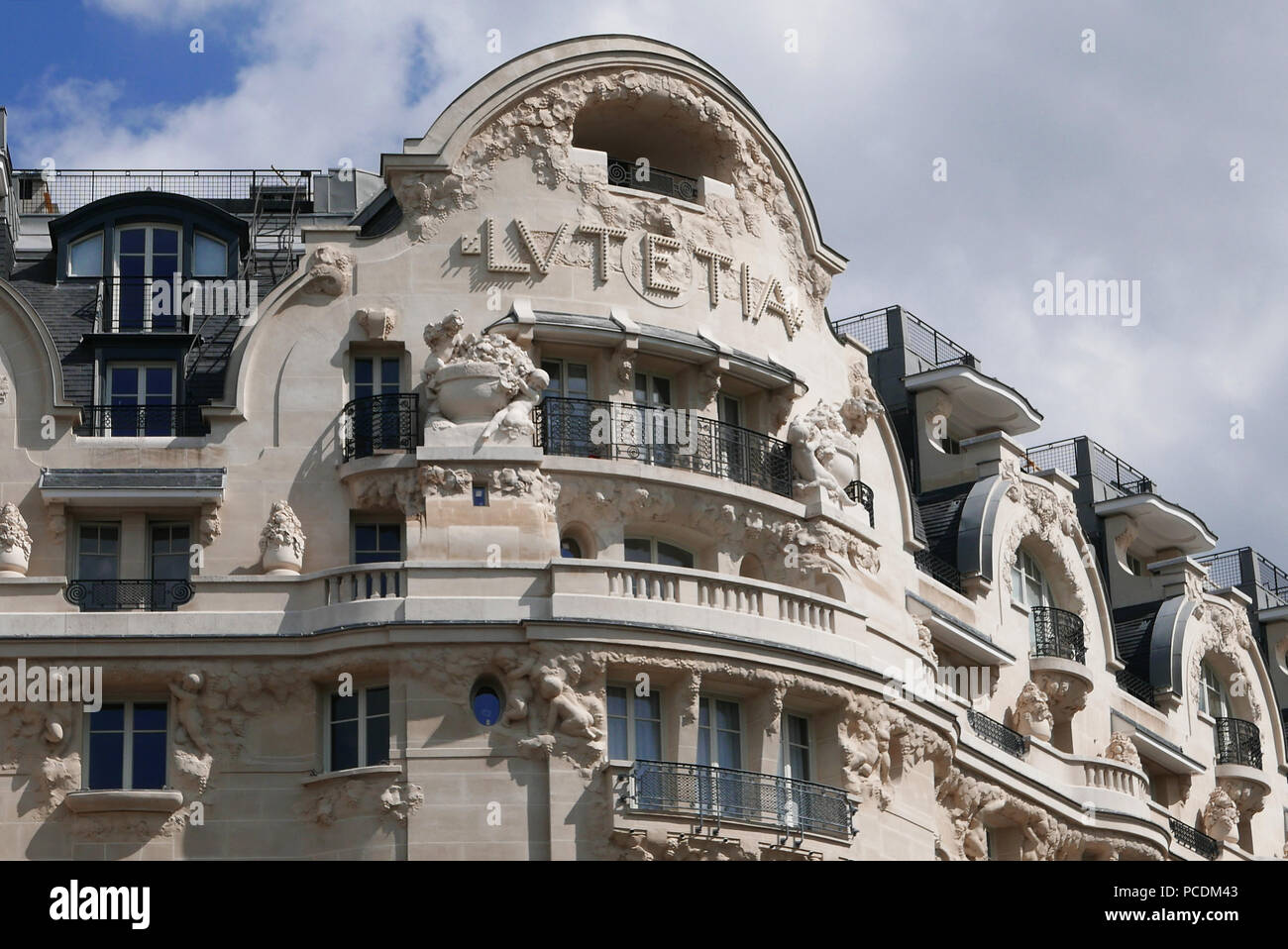 Lutetia Hotel in Paris, left bank, France, Europe - Stock Image