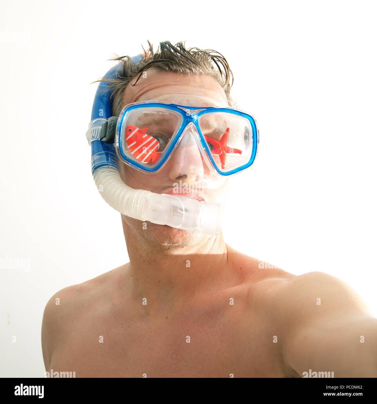 snorkeling,diver,beach holiday - Stock Image