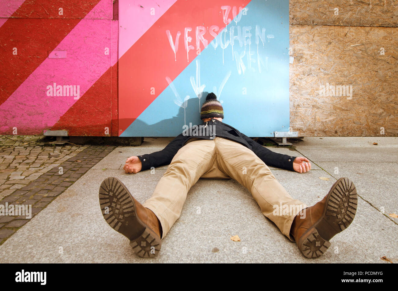 man,drunk,hungover - Stock Image
