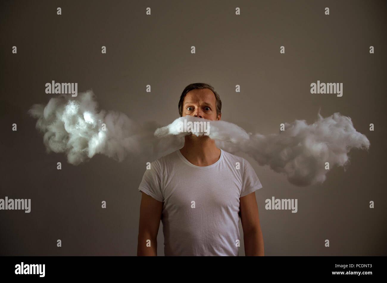 man,mustache - Stock Image