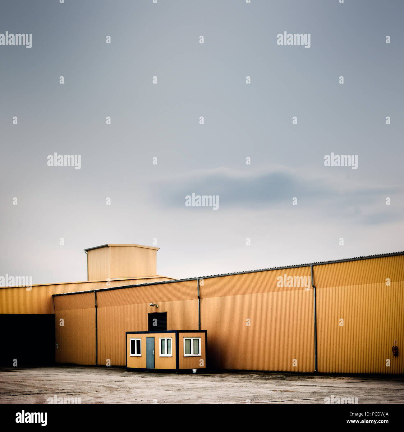 industrial building,warehouse,factory building - Stock Image