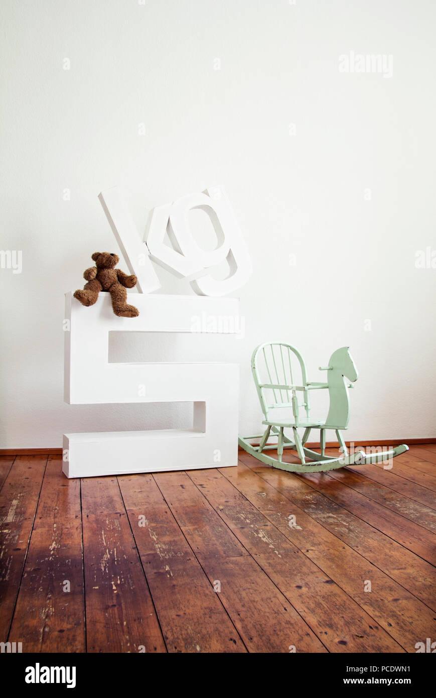 still life,childhood,nursery,kilogram - Stock Image