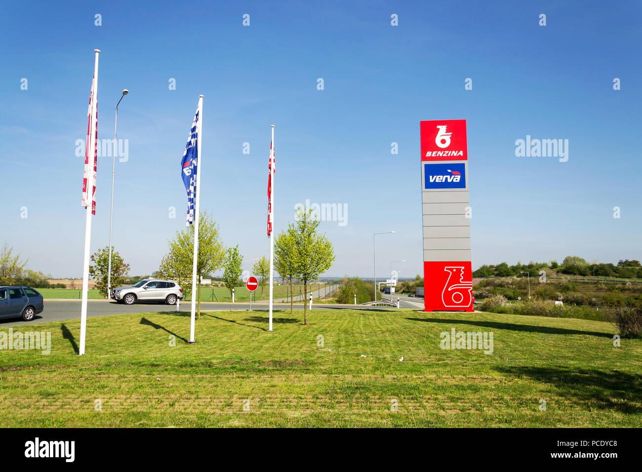 OSICE, CZECH REPUBLIC - APRIL 20 2018: Benzina oil and gas company