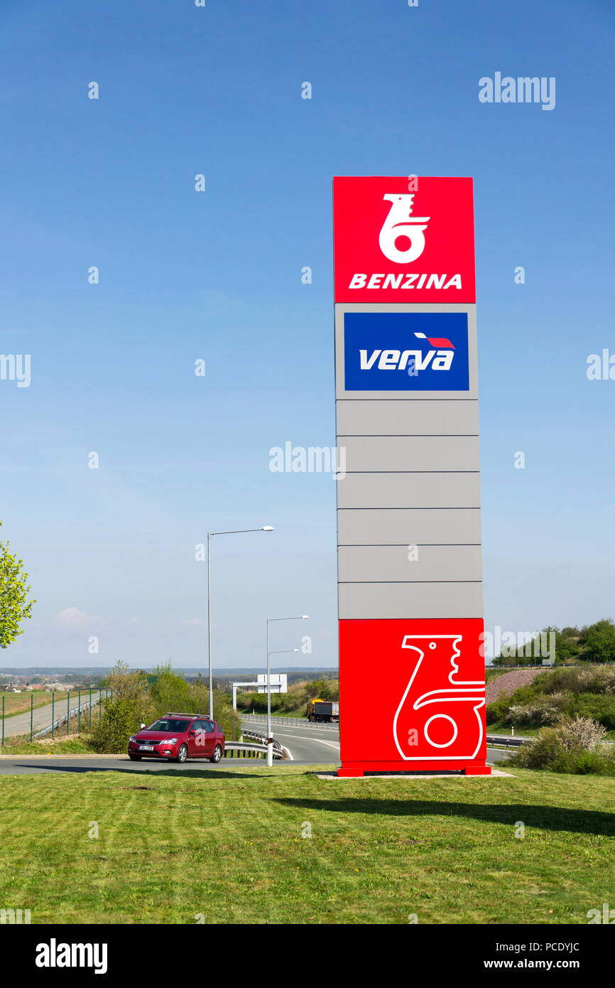 OSICE, CZECH REPUBLIC - APRIL 20 2018: Benzina oil and gas